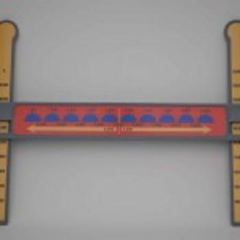 Slide-A-Round 10,000X Rounding Math Manipulative- Rounding 1,000s and 10,000s