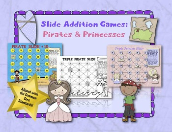 Slide Addition Games:  Pirates and Princesses