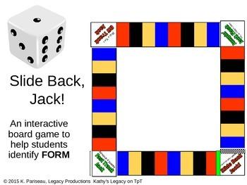Slide Back Jack!  A Game to help identify FORM