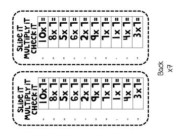 Slide It!  Multiplication Fact Fluency Practice