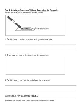 Slide Preparation and Specimen Staining (Living Environment / ESL)