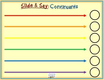 Slide & Say Continuants Mats Freebie