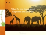 Slide Show - Elephants and Giraffes, Fast Facts by Kathy Laurenhue