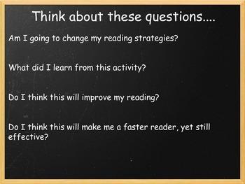 Slide Show (pdf) of Speed Reading