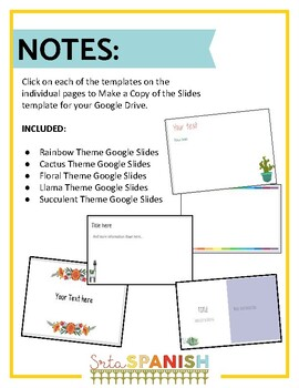 Google Slide Theme Templates {Editable}