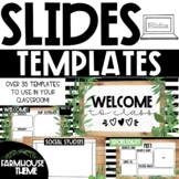 GOOGLE Slides Templates - Modern Farmhouse Theme Distance
