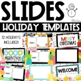 GOOGLE Slides Templates - Holidays Theme Distance Learning