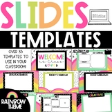 GOOGLE Slides Templates - Rainbow Theme Distance Learning