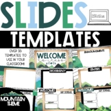 GOOGLE Slides Templates - Scandi Mountains Theme Distance