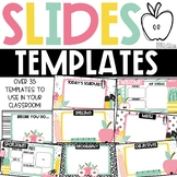 GOOGLE Slides Templates - School Supplies Theme Distance Learning