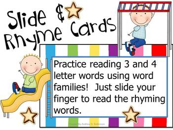 Slide and Rhyme Cards