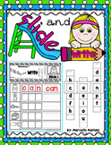 Slide and Write- CVC Word Building Literacy Center Activities