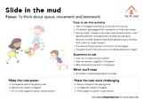 Slide in the mud - PE Tag Game