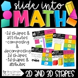 Slide into Math:  2D and 3D Shapes