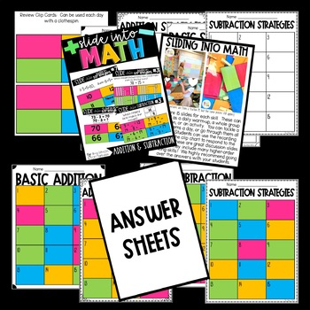 Slide into Math:  Addition and Subtraction Strategies Power Points