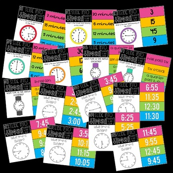 Slide into Math:  Telling Time PowerPoints