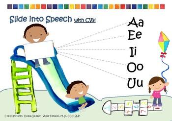 CV consonant vowel combination articulation tool - FREEBIE