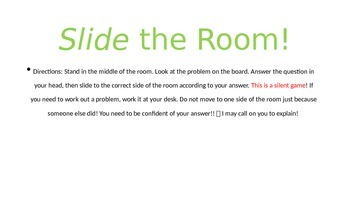 Slide the Room! Second Grade Math Review