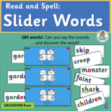 These Slider Words follow the Jolly Phonics sound sequence! (SASSOON)