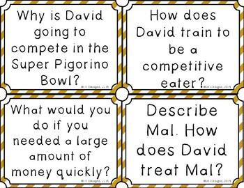 Slider by Pete Hautman Discussion Question Cards