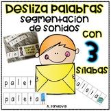 Sliders with THREE SYLLABLES Segmentation segmentación de palabras tres sílabas