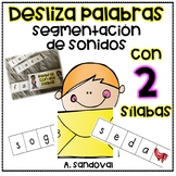 Sliders with two syllables Segmentation segmentación de palabras