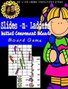 Slides N Ladders- Initial Consonant Blends Game Board