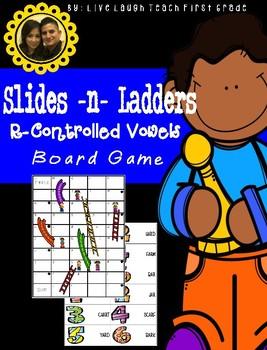 Slides N Ladders- R-Controlled Vowels Game Board