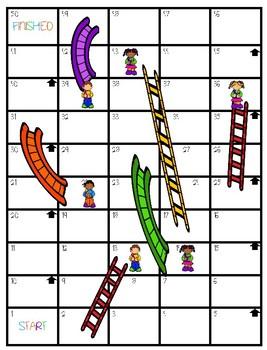Slides N Ladders- Short and Long Vowels Board Game