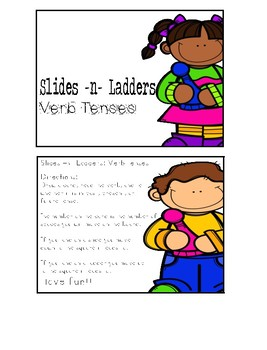 Slides N Ladders- Verb Tenses Board Game