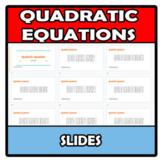 Slides - Quadratic equations - Ecuaciones de segundo grado