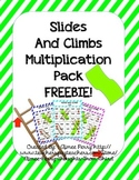 Slides and Climbs-Multiplication FREEBIE (x2)