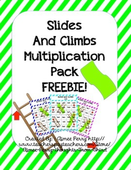 Slides and Climbs-Multiplication FREEBIE (x2)