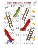 Slides and Ladders Addition Math Center