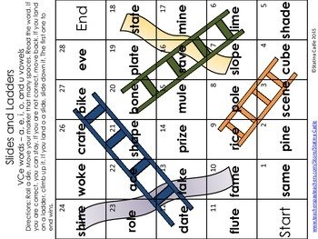 Slides and Ladders CVCe (Sample)