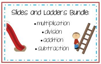 Slides and Ladders Math Center Bundle