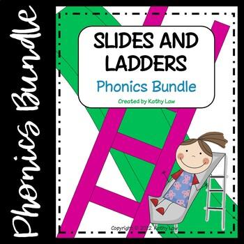 Slides and Ladders Phonics Games BUNDLE