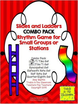 Slides and Ladders: Rhythm Reading Game Combo BUNDLE All 6 Set