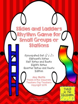 Slides and Ladders: Rhythm Reading Game Syncopated Edition (Ti Ta Ti)