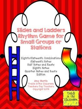 Slides and Ladders: Rhythm Reading Game Ti tika Edition (Eighth-Sixteenth)