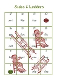 Slides and Ladders Short Vowels Game