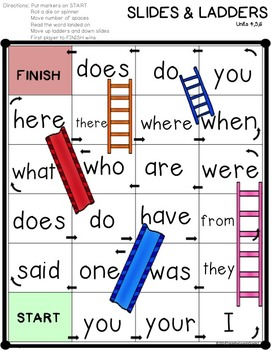 Slides and Ladders with Trick Words Level 1 Edition 2
