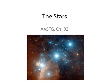 "Slides for ""Astronomy: A Self-Teaching Guide"" (Moche): Ch. 03, The Stars"