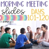 Slides for Morning Meeting 4th Grade, 3rd Grade, 5th Grade