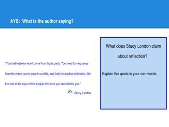 Slides for Student-Led Conference Reflection Lesson