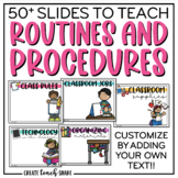 Slides for Teaching Routines & Procedures