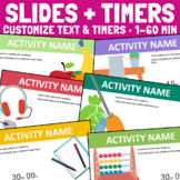 Slides Timers for PowerPoint - Editable Templates