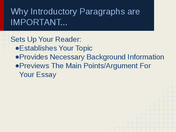 Slideshow: How To Write An Introductory Paragraph