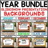 Slideshow Presentation Backgrounds Year Long GROWING Bundle