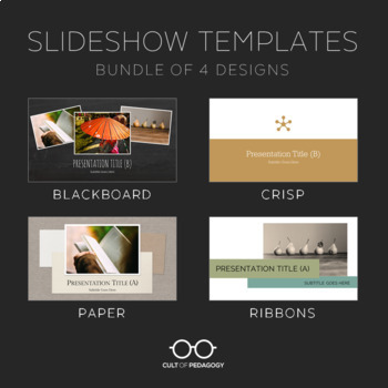 Slideshow Templates: Bundle of 4 Designs